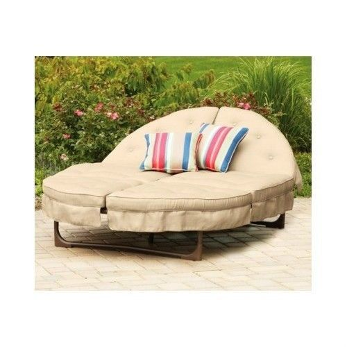 Orbit Chaise Lounge Chair Outdoor Patio Furniture Day Bed Pool Deck Yard Cushion Mainstay