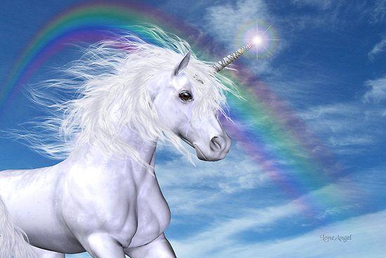 Fall Fairys Wallpapers Beautiful Magical Unicorn With Rainbow D Cheerful