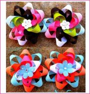 ideas diy hair bows