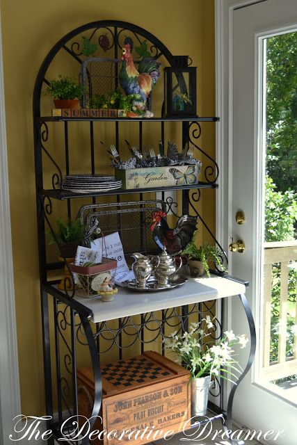 bakers racks for kitchens bronze pull down kitchen faucet 18 curated decorating ideas by rickritchie ...