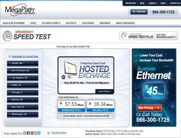 MegaPath Speed Test Plus