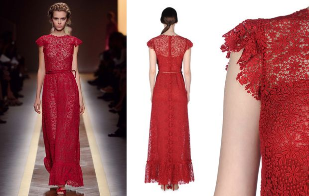 17 Best Images About Red Wedding Dress On Pinterest