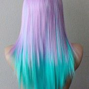 light pastel dyed hair. amazing