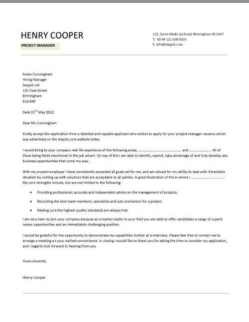 Cover letter examples template samples covering letters CV job application  Cover Letter