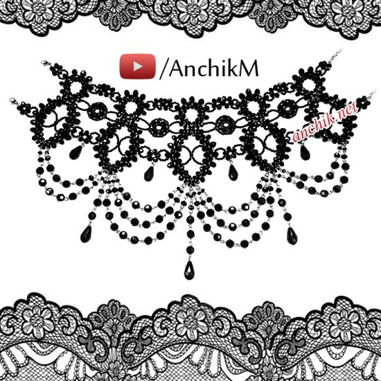 Beaded necklace gothic tutorial http://www.youtube.com