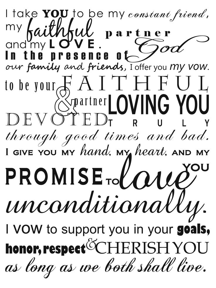 our wedding vows words that mean forever  Vow Renewal