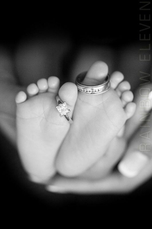 "Newborn photo…could caption with ""all because two people feel in love"""