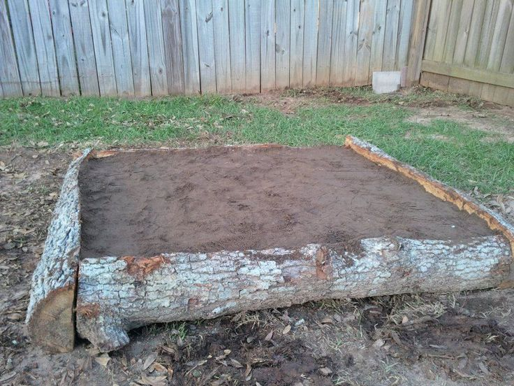 From Homesteading Survivalism From Dustin Built A X Raised Bed Using Logs From