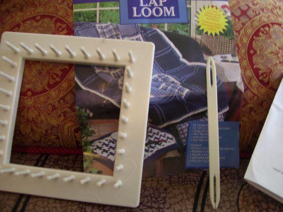 Craft House Square Lap Loom by VINTAGEGURUFASHION on Etsy 1000  lap looms  Pinterest