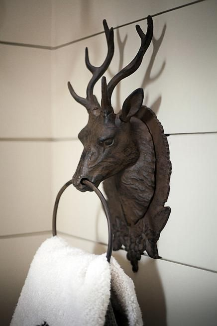 use a door knocker as a hand towel holder or in the