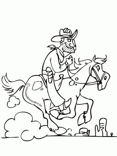 17+ best images about Cowboys Kleurplaten on Pinterest