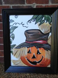 Fall festive canvas art | Artwork | Pinterest | Pumpkins ...