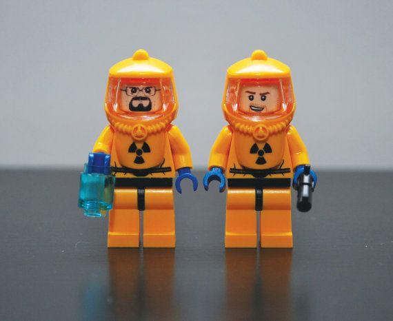WALTER WHITE Breaking Bad Hazmat Suit Custom LEGO