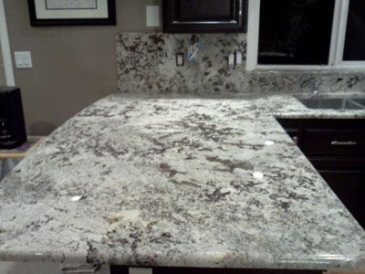 Alaskan White Granite Alaskan White 3cm Granite Material Profile Half Bullnose Edge Full
