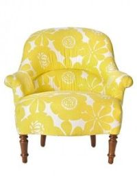 Cute patterned, vintage style comfy chair for reading ...
