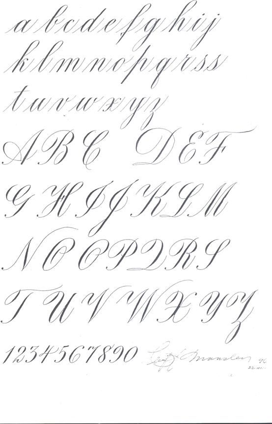 Copperplate Writing Alphabet Worksheets