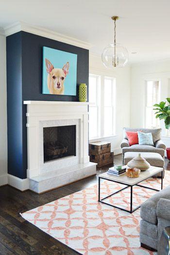 Blue accent walls, Accent walls and Blue accents on Pinterest