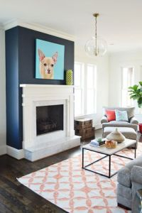 Blue accent walls, Accent walls and Blue accents on Pinterest