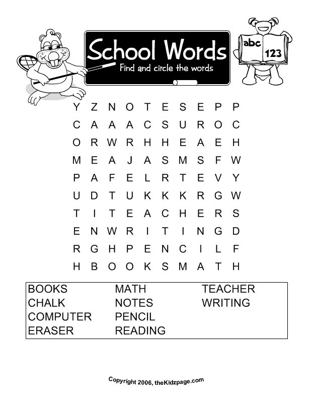 17 Best ideas about Free Printable Word Searches on