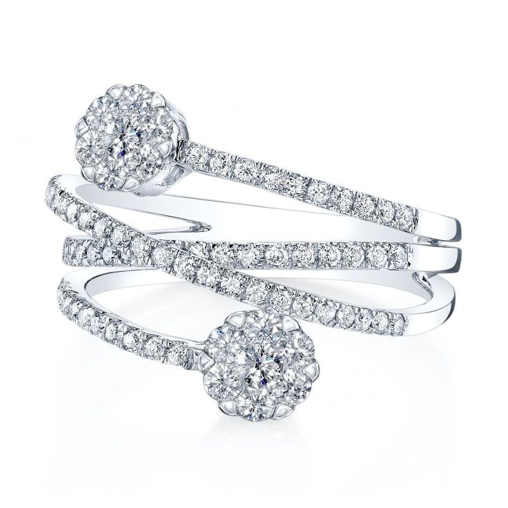 Coronet Diamonds Hunnalye Ring in 14k White Gold. #