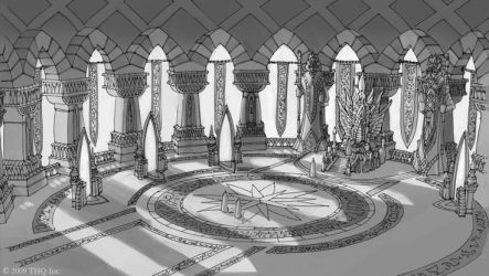 throne room concept fantasy rooms minecraft castle sci fi concepts map palace fountain rpg sketches