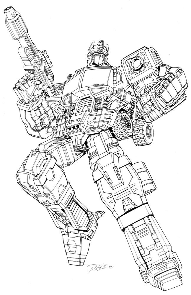 Robots And Transformers Coloring Pages For Kids Just