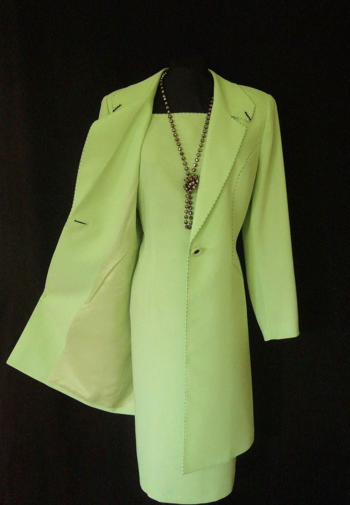 CONDICI Wedding Outfit Size 14 Green Navy Dress Coat Suit Ladies Womens Designer  Pinterest