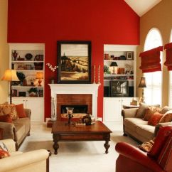Best Paint Color For Living Room With Burgundy Furniture Dark Brown Curtains 15 Red Themed Designs | Beige Rooms ...