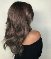 dusty metallic brown hair