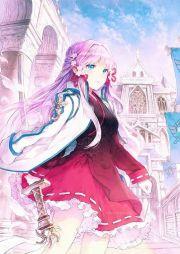 anime girl. pink hair. blue