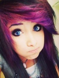 Emo/ scene hair style!! And I love the color! | Hairstyles ...