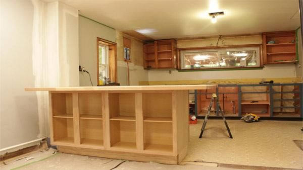 DIY Kitchen Island  Check out how to create a your own island out of standard kitchen cabinets