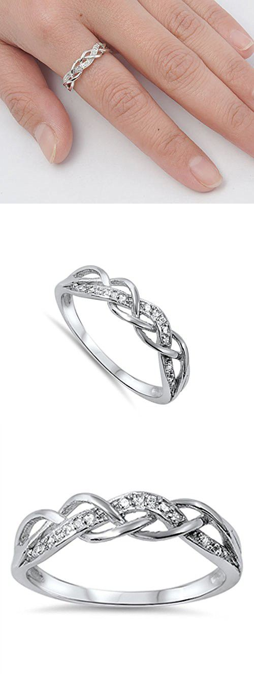 25+ best ideas about Silver Promise Rings on Pinterest
