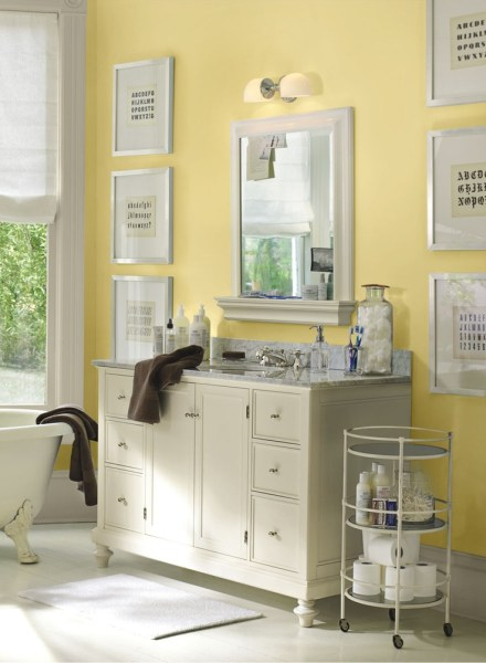 soft yellow bathroom ideas Soft yellow bathroom - I'm going to use a pale, creamy, yellow : ) - a | Hall Bathroom Remodel