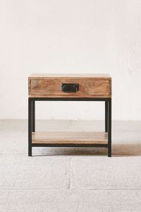 Casper Industrial Wooden Nightstand | Urban outfitters ...