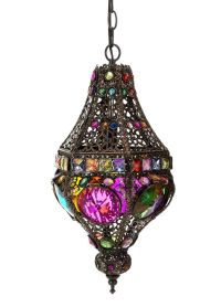 Moroccan Ornate Coloured Hanging Lamp ...