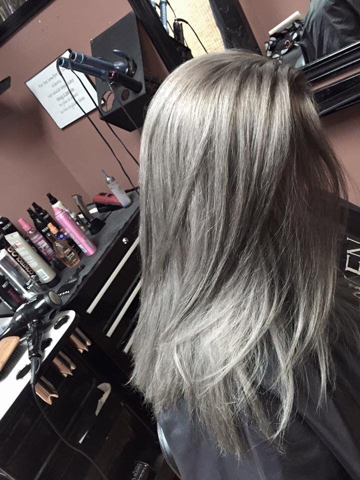 Steel Titanium Grey On Sandy Executive Hair Color