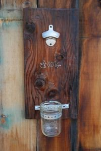 Rustic Wall Mount Bottle Opener by LoopsandLillies on Etsy ...