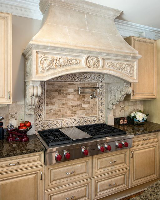 Traditional range hood cover  4 Types of Kitchen Range