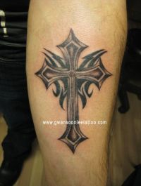 25+ best ideas about Tribal cross tattoos on Pinterest ...