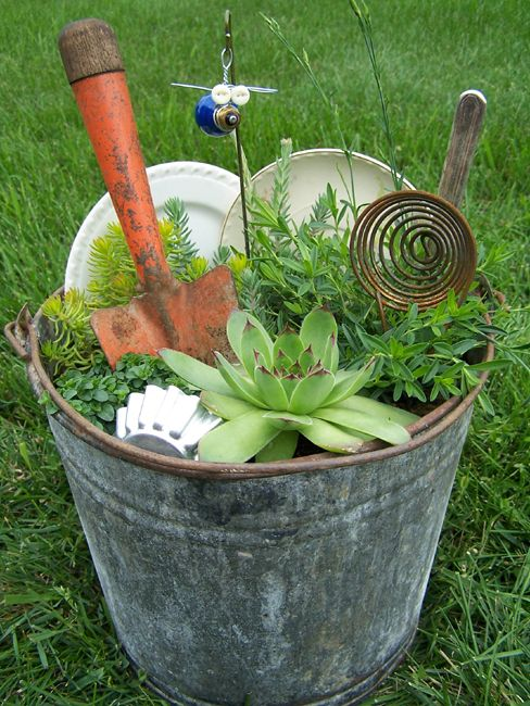 833 Best Images About Outdoors GARDENS With Junk On Pinterest