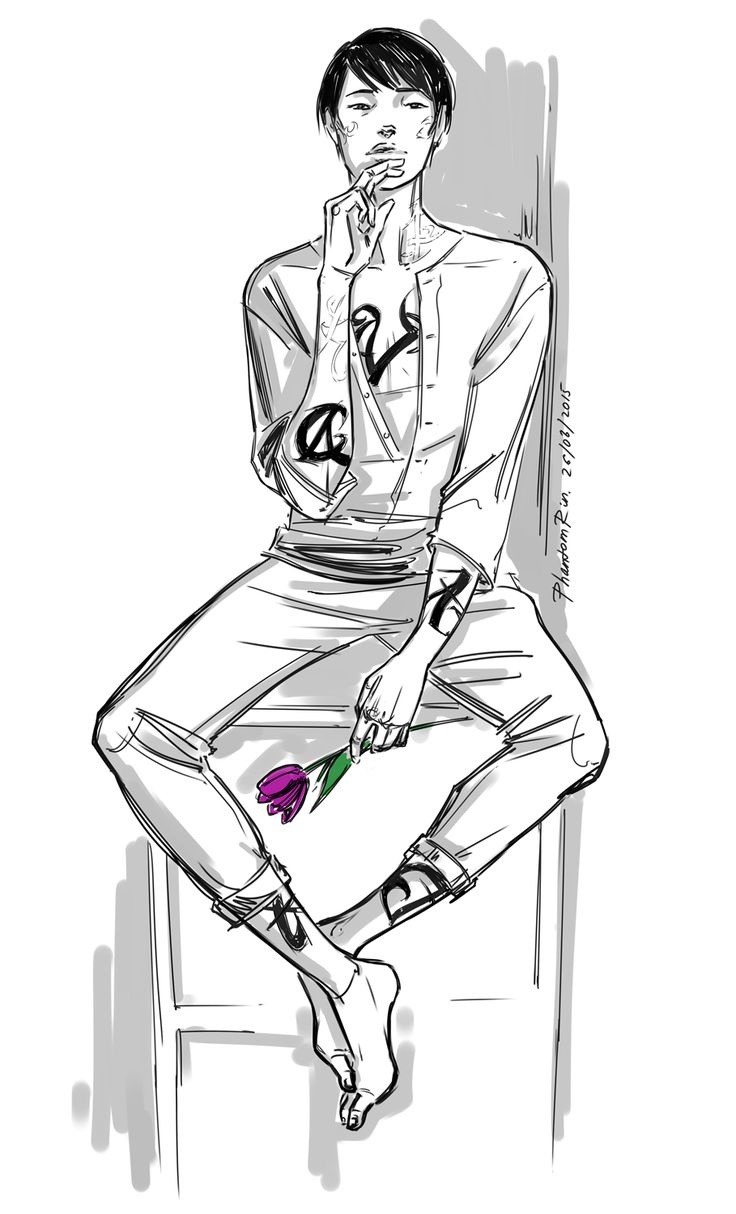 """Jem Carstairs, with a purple tulip meaning """"Love forever"""
