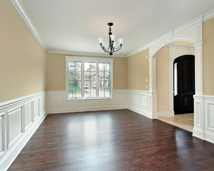 White wainscot dark floors  Molding and Trim  Pinterest  Pictures of Window and Pictures