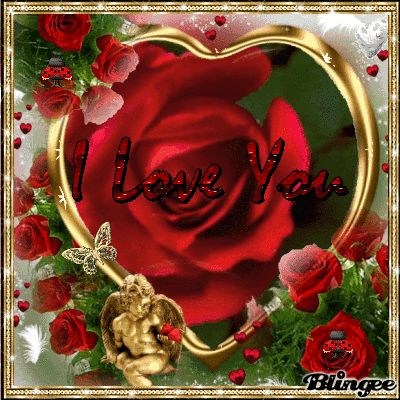 I Love You Blingee Graphics LOVE YOU RED ROSES IN