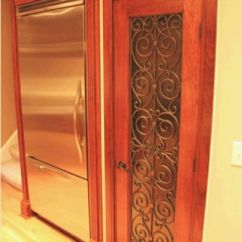 Rustic Kitchen Cabinet Wire Storage Faux Iron On Pantry Door. | Home Decor Pinterest ...
