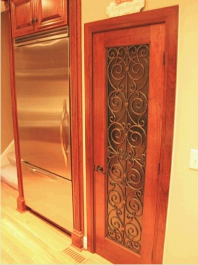 rustic kitchen cabinet outdoor prefab kits faux iron on pantry door. | home decor pinterest ...