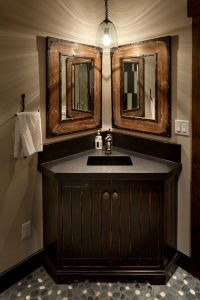 25+ best ideas about Corner bathroom vanity on Pinterest