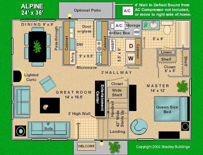 Alpine 24 X 36 Three Bedroom Home