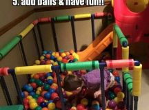 PVC pipe ball pit for kids | Kids | Pinterest | Fatto in ...