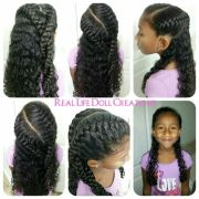 curly hairstyles black little
